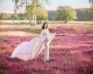 Материнство платья для фотосессии беременной Беременности Одежда Женщины Фотографии Реквизит платье Sexy V шеи длиной до пола платья длиной Материнства