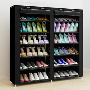 43.3-inç 7-layer 9-grid dokunmamış Kumaşlar Büyük Raf Organizatör Ev Mobilya Ayakkabı Dolabı Q190605 Için Çıkarılabilir Depolama
