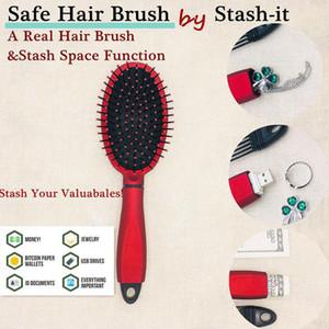 Espace Peigne réel Brosse à cheveux secrète Boîte Stash creuse Récipient pour stockage USB argent bijoux peigne sécurité sécurité Diversion