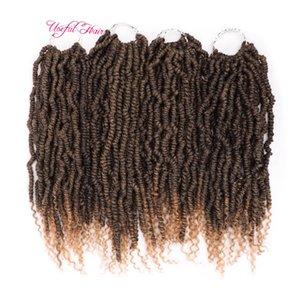 Nuevo estilo de la pasión primavera tuerce pelo sintético Crochet el envío libre Extensiones Ombre ganchillo Trenzas mullido bomba Gire a granel Hair Braiding