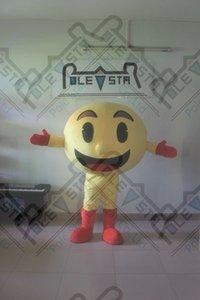 individuelles Design Pacman Maskottchenkostüme Karikatur gelbe Rollenmaskottchenkostüme Ball Fuß Schauspieler POLE STAR MASCOT KOSTÜME