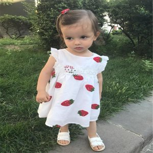 Baby Girl Dress Baby 0-2Y Newborn Summer Embroidery Flower Strawberry Cotton Dress Infant for Birthday