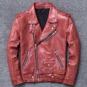 ZVAQS Streetwear Natural Genuine Leather Jacket Men Clothes 2020 Korean Fashion Short Moto Biker 100% Sheepskin Coat Hiver 7003