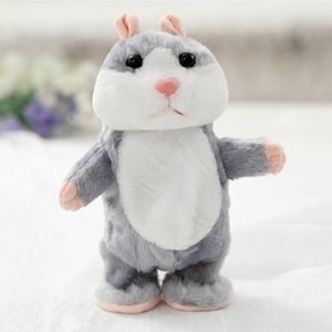 RCtown Lovely Talking Plush Hamster Toy Can Change Voice, Record Sounds, Nod Head or Walk, Early Education for Baby