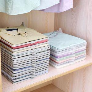 Roupas Organizador T Shirts Dobrável Placa de Escritório Mesa Arquivo Armário Suitcase Divisores de Prateleira Sistema Closet Gaveta Organizat
