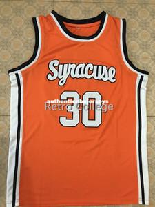 30 Billy Owens Syracuse Turuncu 1991 Basketbol Forması tüm boyut Nakış Dikişli Herhangi bir isim ve ad Özelleştirmek XS-6XL yelek Formalar