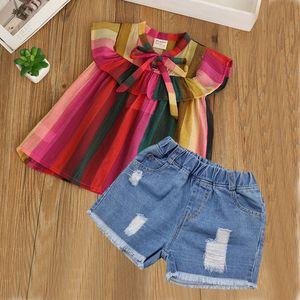 Humor Bear Baby Girl Clothes 2018 Nuovi bambini Clothse Boys Girls Multicolor Coat + shorts Suit Boy Girls Abbigliamento Y190518