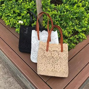 2020 New Big Capacity Lace Shoulder Bags For Women Summer Casual Beach Bags Female Travel Handbag Totes Small Inside