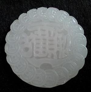 Doğal Afgan Beyaz Jade Şanslı Pendant