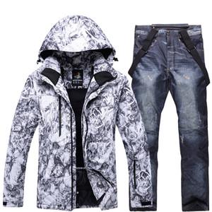 Sets Jacken Hosen Herren Ski Anzug Snowboarding sehr warm atmungsaktiv windabweisend wasserdicht Schnee-Jacke im Freien Winterkleidung