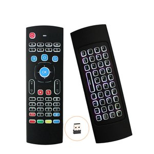 Air Fly Mouse MX3 with Backlit 2.4G Bluetooth Wireless Keyboard Remote Controls TV Box Contro FOR Android TV Box S905X X96 T95X MXQ PRO
