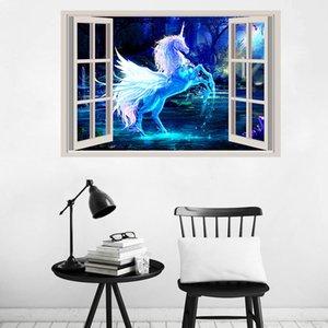 Vendita al dettaglio Decorazioni per la casa per bambini wall art 3d adesivo da parete per cartoni animati per bambini Camera dei bambini Adesivi murali rimovibili Sfondi Forniture decorative per feste