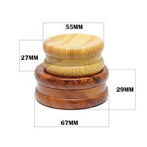 Tabak Crusher Neue 2-Schicht-Durchmesser 67MM 55MM Zink-Legierung Zahn Holz Yo-yo Concave Grinder Rauchzubehör Gut