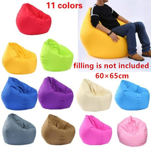 Sólidas 11 cores extra grandes cadeiras Bean Bag para Adultos Crianças Couch cobrir sofá Indoor preguiçoso espreguiçadeira macia Decor bonito Início do arco-íris