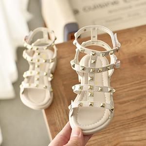 Çocuklar Kızlar Sandalet Yaz 2019 Yeni Moda Çiçek Küçük Bebek Kız Prenses Ayakkabı Yumuşak Pu Deri Çocuk Sandalet Kızlar Ayakkabı