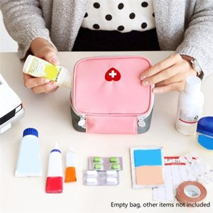 Mini Outdoor First Aid Kit Bag Pouch Portable Travel Medicine Package Emergency Kit Bags Small Medicine Divider Storage Organizer Bags