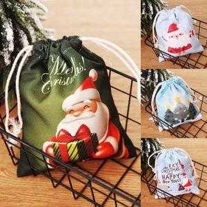 2019 Merry Christmas Gift Candy Bags Santa Claus Snowman Elk Storage Wrap Candy Party Gift Bag Navidad Decoración Embalaje Suministros Navidad