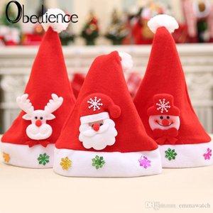 children's caps Christmas gifts Christmas decals cartoon caps children's caps Christmas Hats Thick Santa