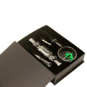 Стеклянные бонги Nector Kit Micro NC 10 мм со стеклянным кварцевым титановым гвоздем Медовые соломенные стеклянные водяные бонги Dab Rig