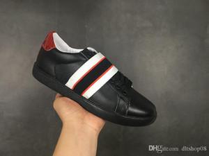 gucci Luxury brand  Küçük arı Ayakkabı siyah yeni Arı Web Işlemeli Erkek Kadın ACE Hakiki Deri Tasarımcısı Sneakers Beyaz En Iyi Moda Rahat Ayakkabılar