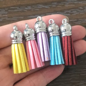 Wholesale DIY Velvet Tassel Charms 10 Colors Tassel Pendant Charm for Bracelets Necklace Earrings Key Chain Bookmark Zipper Pulls