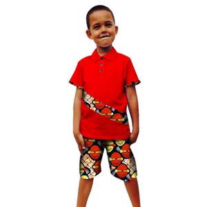 Vêtements enfants africains pour l'été 2019 Boy Print Top costume Pantalons enfants Bazin Richen Dashiki Robe Robes femme africaine hommes