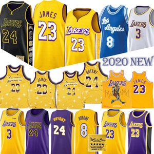 2020 НОВЫЙ Леброн Джеймс 23 Баскетбол Джерси Брайант Энтони Дэвис 3 ретро атавизмом Подпись майки для баскетбола
