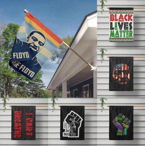 Non riesco a respirare bandiera nera Abita Matter 16 stili 40 * 60cm Wall Hanging volo poliestere Banner Bandiere OOA8052