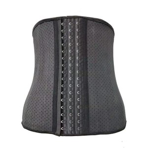 25 disossato l'acciaio lattice Vita Mesh Trainer del corsetto delle donne di colore beige XS-3XL Postpartum Recovery allenamento pancia controllo Shapewear