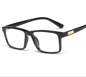 Anti-bleu PC résine lunettes TR90 encadré pour lentille en verre charnière unisexe Glassed Frame lunettes anti-bleu Objectif rétro Porter confortablement