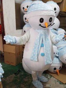 Оптово-Высокое качество Adult Рождество Снеговик Mascot Костюм партии Костюмированный Street Показать ручной работы
