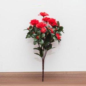 Küçük buket çiçek Yapay Rhododendron çiçek ucuz ipek açelya çiçek buketleri buketleri Yapay Rhododendron çiçekler gül