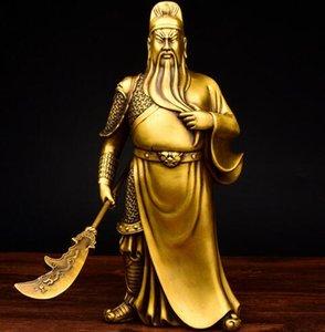 Buddha Statue Skulptur Guangong Kupfer Ornament Guan Yu Fortuna Wu Gott des Reichtums The Lost Bladesman Figur Figur