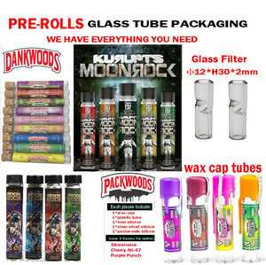 tipi completi comune Prerolls tubo di vetro Imballaggi Dankwoods Packwoods Moonrock pre-roll Giunti Cork Tubi Prerolls TopShelf Giunti Laminati