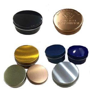 دائري الألومنيوم مربع مرهم دهن الشاي يترك علب الشمع النفط الألومنيوم الذهبي الشظية اللون موضوع منظم المحمولة 8hs l1