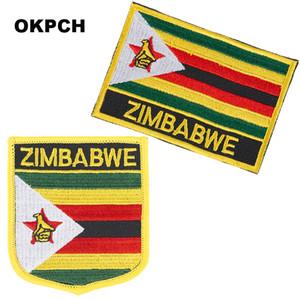 Bayrak Yamalar Ulusal Bayrak Patch üzerinde Zimbabve Nakış Demir Giyim için DIY Dekorasyon PT0088-2