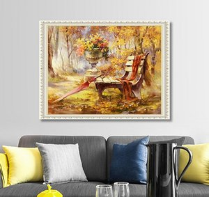 New hot DIY 5D diamond painting autumn scenery stick drill cross stitch decoration painting embroidery dedroom living room lobby