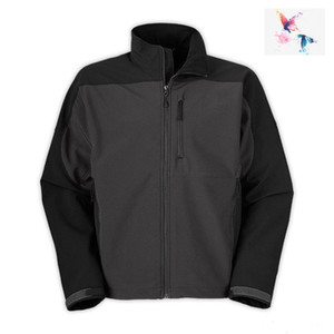 2019. BRAND UOMO Oudoor Polartec softshell norTh Jacket Maschile Sport faccia in pile uomo cappotto apice 2 nero