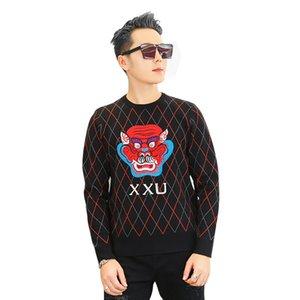 DUYOU Nuevo Invierno Cálido Suéter de Los Hombres Ropa de Marca de Moda Patchwork Jumper Hombre Calidad Pullover Hombres Pullover Jumpers DY105612
