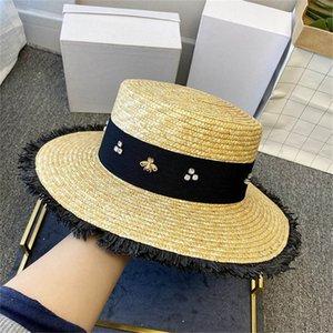 Kadın Yaz Tasarım küçük arı Plaj Cap 2020 Moda Tasarımcısı Sokak Şapka kasketleri Marka Bayan Şapka Plaj Brim şapka Toptan Caps