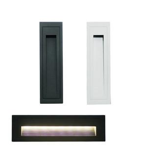 AC85-265V / DC12V / 5W / 10W LED-Schritt-Licht IP65 Aluminium Embedded Treppe Ecklampendas Innen Außen Wandeinbautreppenstufe Punkt im Rampenlicht