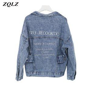 ZQLZ mujeres capa de la chaqueta femenina 2020 de la nueva vendimia de la corto Jean Abrigo MUJER Streetwear Jeans Denim chaqueta de primavera de Autmn