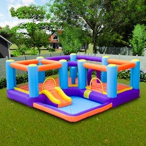 Çift Bounce Evleri Şişme Bounce Evi Kurutma Tüneli de Çocuk Parti doğum günü partisi için geniş Kare Bouncer