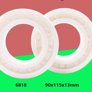 2pcs lot Free shipping 6818 ZrO2 full Ceramic bearing 90x115x13mm Zirconia Ceramic deep groove ball bearings 90*115*13mm