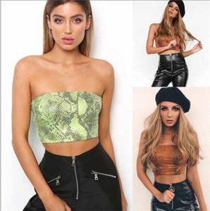 أزياء المرأة الصيف الهيئة غير الرسمية ليوبارد طباعة الصدرية المحاصيل القمم بلوزات معطلة الكتف أكمام قميص بلوزة العصابة Sunsuit الملابس