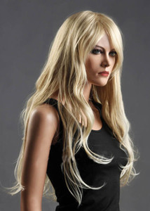 Women's Long Blonde Wig Wavy Curly Wigs Cosplay Costume Wigs Synthetic