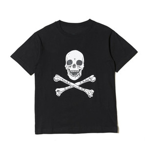 18SS ASAP ROCKY Christmaas 티 패션 블랙 스컬 프린트 남성 스타일리스트 T 셔츠 남성 여성 짧은 소매 셔츠 크기 S-XL
