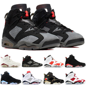 Hommes 6s Top Qualité Carmine Noir Chat PSG Chaussures De Basket-ball 6 Oreo Infrarouge UNC Gatorade Tinker Hatfield CNY Designer Sneakers Sport Trainers