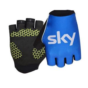 MOGEBIKE 2020 Nuova Pro Tour De France Sky GEL assorbimento delle vibrazioni Guanti di alta qualità Estate Mezza Finger Gloves Bike taglia XL