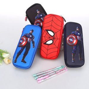 Spiderman Pencil Case Captain America Stationery Bag Avengers Pencil Case for Students Kids Gifts School Supply